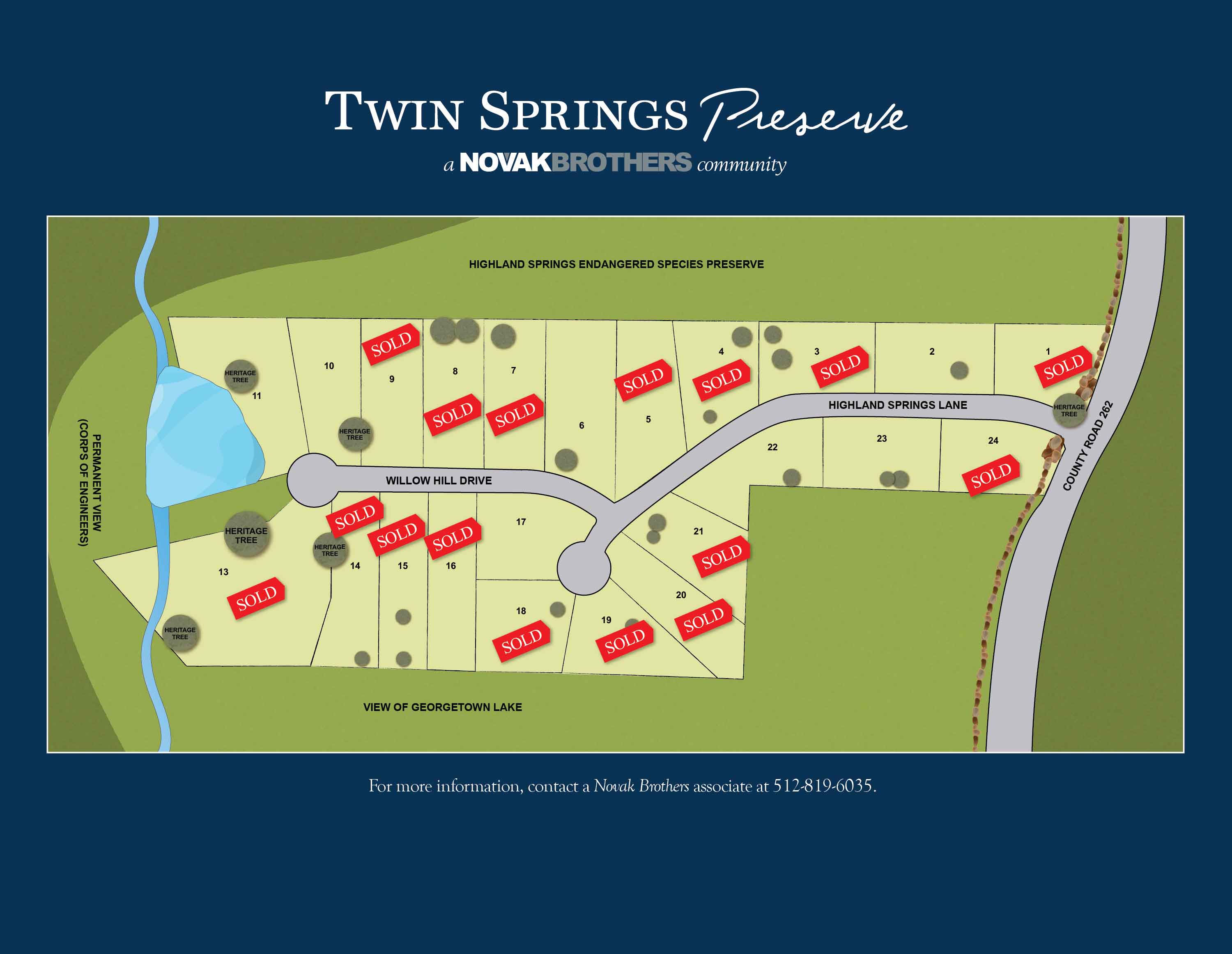 Twin Springs Preserve Masterplan - a Novak Brothers Community