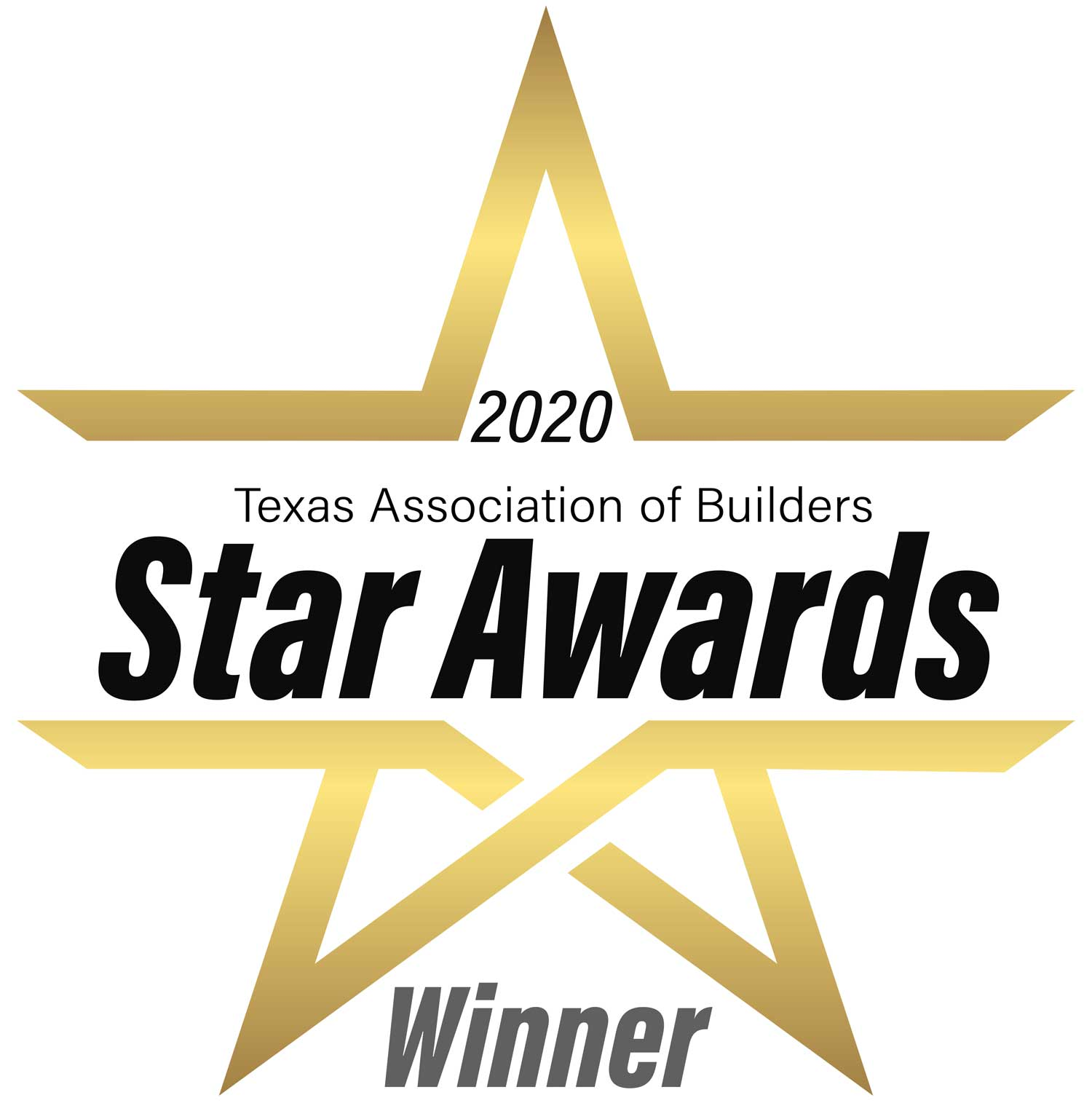 Texas Builders Association Star Awards 2020 Winner Logo